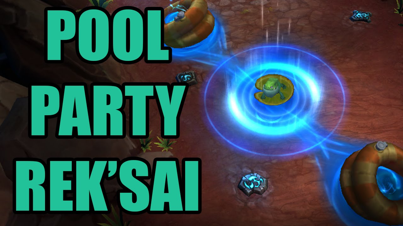 Lol Pool Party Reksai Skin Spotlight League Of Legends Gameplay