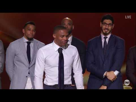 Russell Westbrook - Emotional Speech -  Most Valuable Player (MVP) Award - 2017 NBA Awards