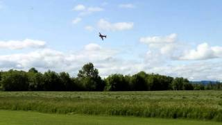 Extra 300 slip to landing