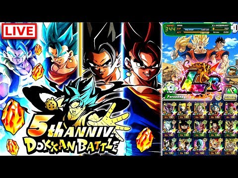 🔴LIVE 5 ANS DBZ DOKKAN BATTLE - Je FARM 800 DS pour INVOCATIONS