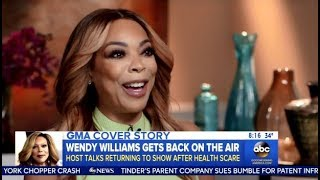 Wendy Williams Back To Work After 3 Weeks Health Scare (GMA)