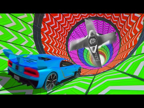 SURVIVE The RAINBOW OBSTACLE Tunnel At 450MPH! (GTA 5 Funny Moments) thumbnail