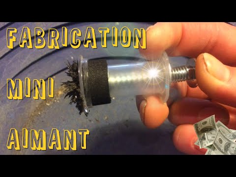 Fabrication d&39;un Mini AIMANT pour sable noir orpaillage FRANCE magnetic sand   STOP MOTION
