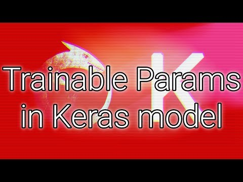 """Learnable Parameters (""""trainable Params"""") In A Keras Model"""