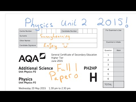 GCSE Physics 2015 AQA Unit 2 Full Paper PH2HP June