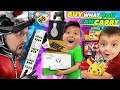 I'LL BUY WHAT YOU CAN CARRY CHALLENGE! Ant-Man Style! (FV Family Shrinking Shopping Challenge)