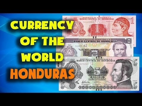 Currency Of The World - Honduras. Honduran Lempira. Honduran Banknotes And Honduran Coins