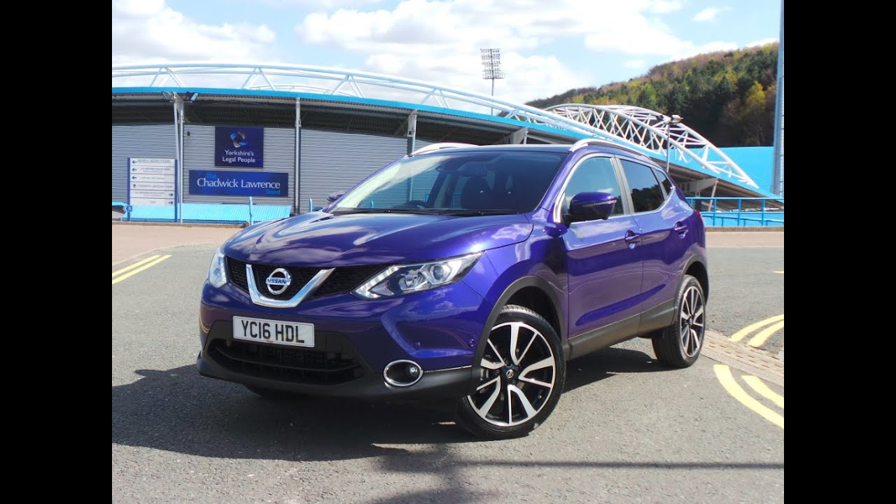 2016 16 nissan qashqai 1 5 dci tekna 5dr delivery miles in blue youtube. Black Bedroom Furniture Sets. Home Design Ideas