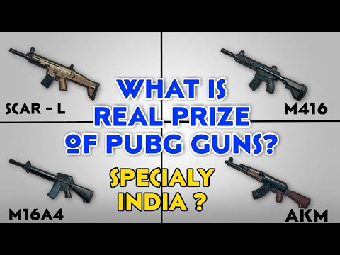Pubg Guns Real Price in India, Pubg guns fact in real Life