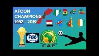 AFRICAN CUP OF NATIONS FINALS GOALS AFCON 1992 - 2019   TODOS GOLES Y CAMPEONES DE AFCON