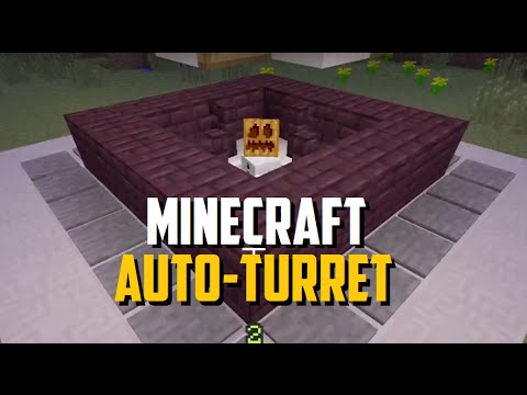 Minecraft - Automatic Snow Golem Turrets -Villager Defense Towers -  TU14
