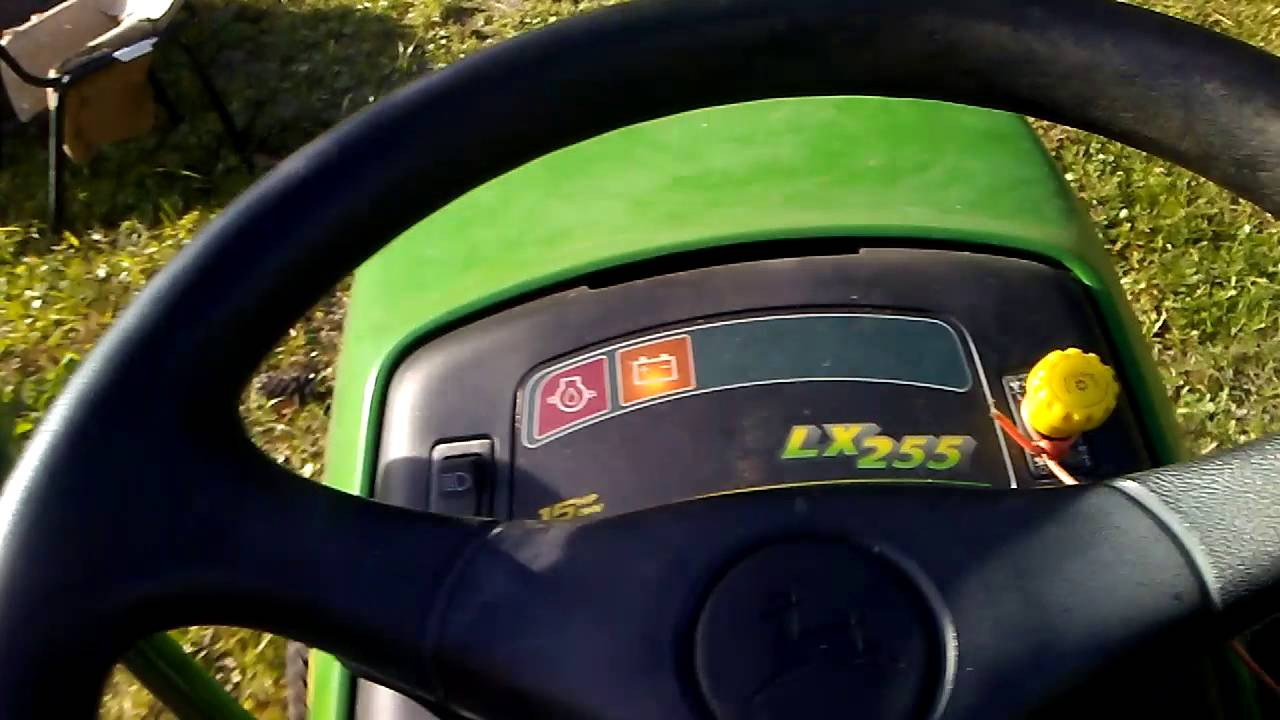 Mowing With The John Deere Lx255