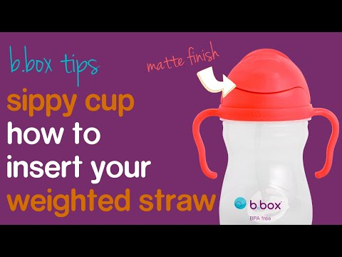 b.box tips - how to remove & insert the weighted straw