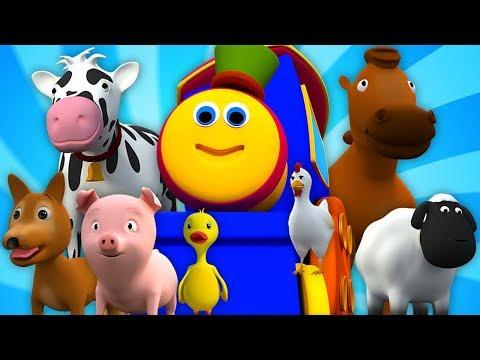 bob-o-trem-foi-para-a-fazenda-|-animais-de-fazenda-para-crianças-|-bob-train-went-to-the-farm