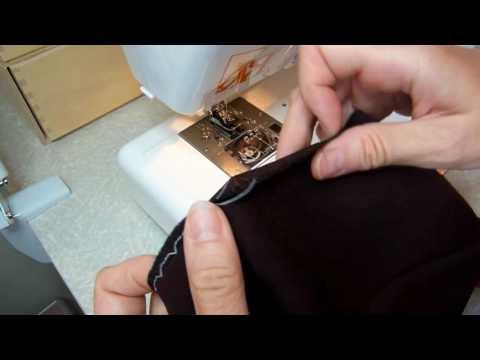 Как подшить брюки потайным швом на машинке видео