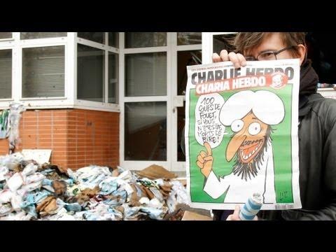 Hz Muhammed karikatürü yayımlayan dergi binasına saldırı