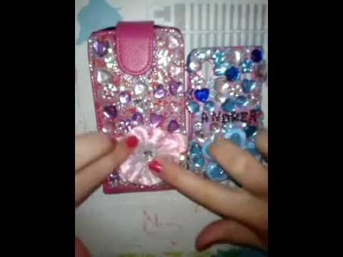 Como decorar una funda del movil con diamantes youtube - Decorar funda movil ...