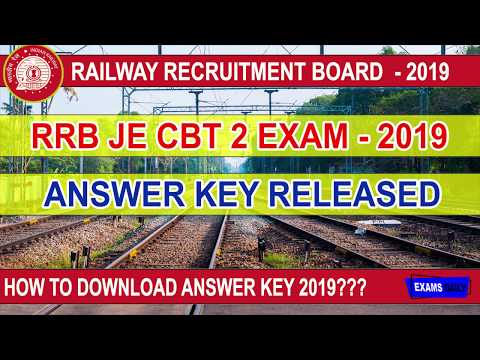 How To Download RRB JE CBT2 Answer Key 2019 RRB JE Answer Key 2019