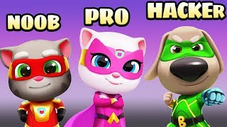 Talking Tom Hero Dash Noob VS Pro VS Hacker