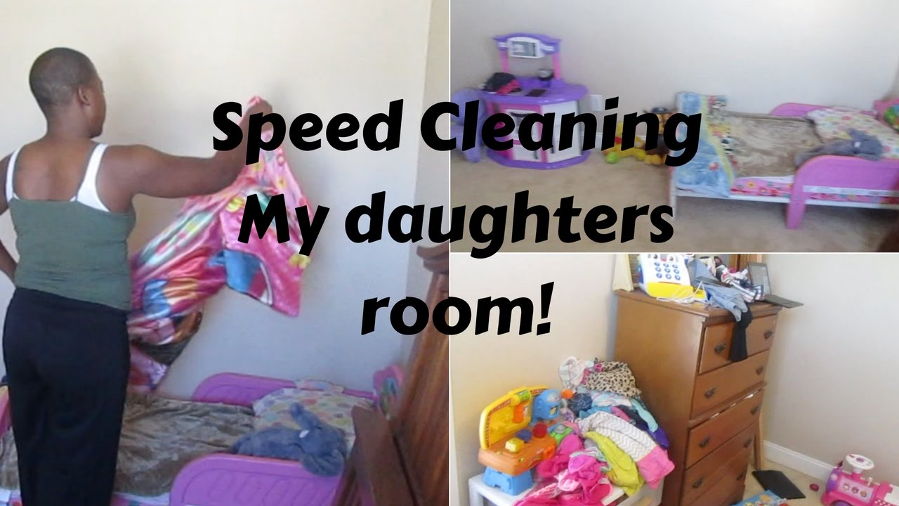 veda day #12- speed clean & organize my daughters room || a