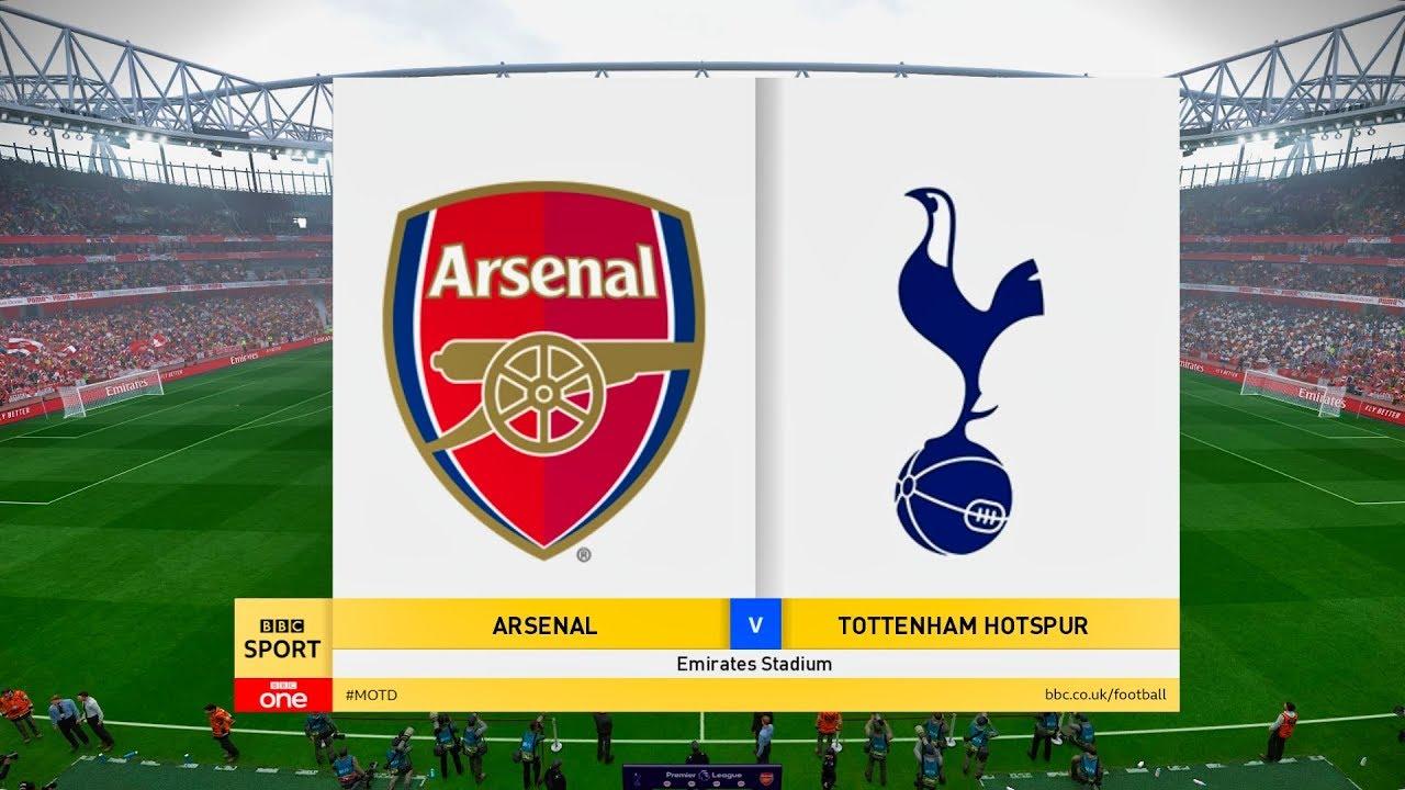Arsenal Vs Tottenham Epl 1 September 2019 Gameplay Youtube