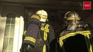 18.11.17. Incendio de chalet en Las Rozas