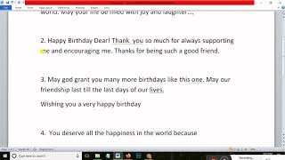 Birthday Wishes for Best Friend|Happy Birthday Quotes|How to write Happy BirthDay message for friend