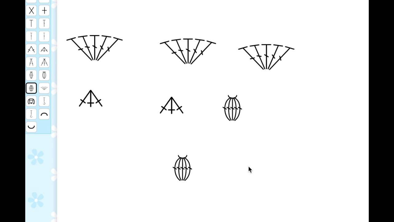 Stitch fiddle draw symbols in a free form crochet chart youtube stitch fiddle draw symbols in a free form crochet chart ccuart Image collections