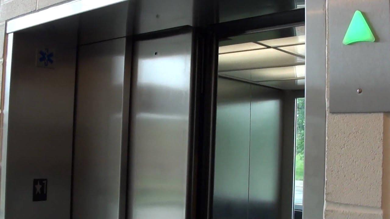 Kone glass monospace mrl elevators at monk st parking for Garage elevator lift