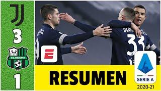 Juventus 3-1 Sassuolo. Cristiano Ronaldo, nivel leyenda: CR7 anotó y llegó a 759 goles | Serie A