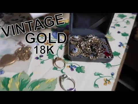Antique Storage Unit YEARS OLD.. Made $1,006 In GOLD Jewelry!