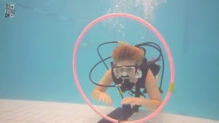 Bubblemaker, Pool diving with kids