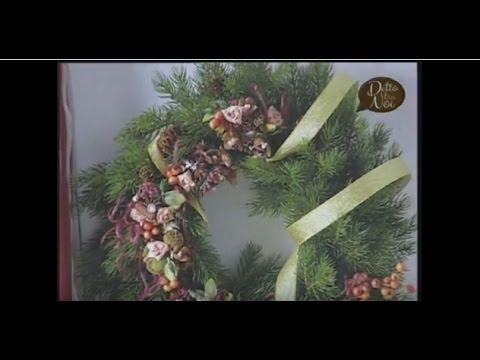 Decorazioni Natalizie Youtube.Video Manidilara Decorazioni Di Natale In Biedermeier Youtube