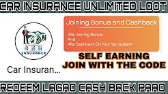 EARN CASHBACK FROM YOUR REDEEM || 100% TRUSTED || CAR INSURANCE APP
