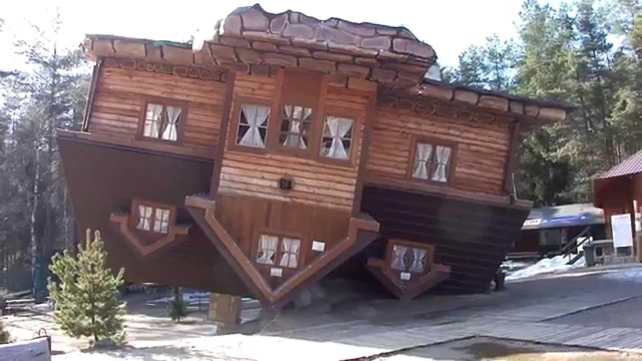 Upside Down house at Szymbark park, Poland