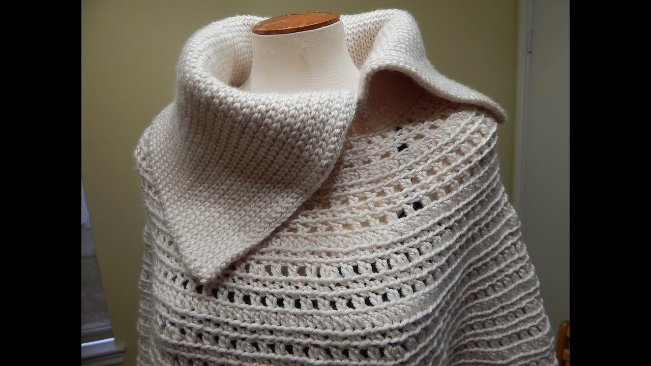 Capa Crochet para Invierno Elegante - YouTube