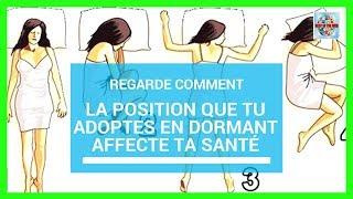 Regarde comment la position que tu adoptes en dormant affecte ta santé