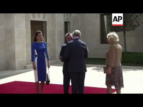 Prince Charles and his wife Camilla meet King and Queen of Jordan