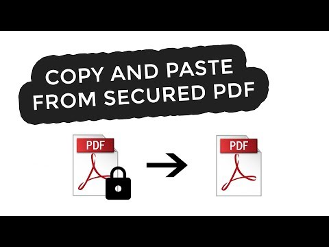 🔐 How To Copy And Paste From Secured PDF 🔐