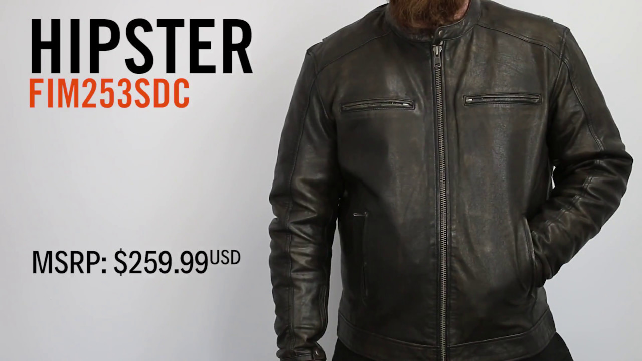 4b23f4933 First Mfg Co - Hipster Leather Motorcycle Jacket