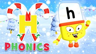 Phonics - Learn to Read | The Letter 'H' | Christmas Countdown 2019 | Alphablocks