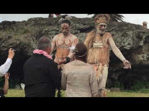 Easter Island Marriage Ceremony by Tribal Chief