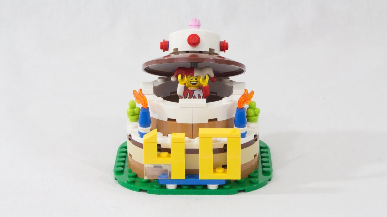 Lego Store Birthday Cake Set 40153 Stop Motion Build Youtube