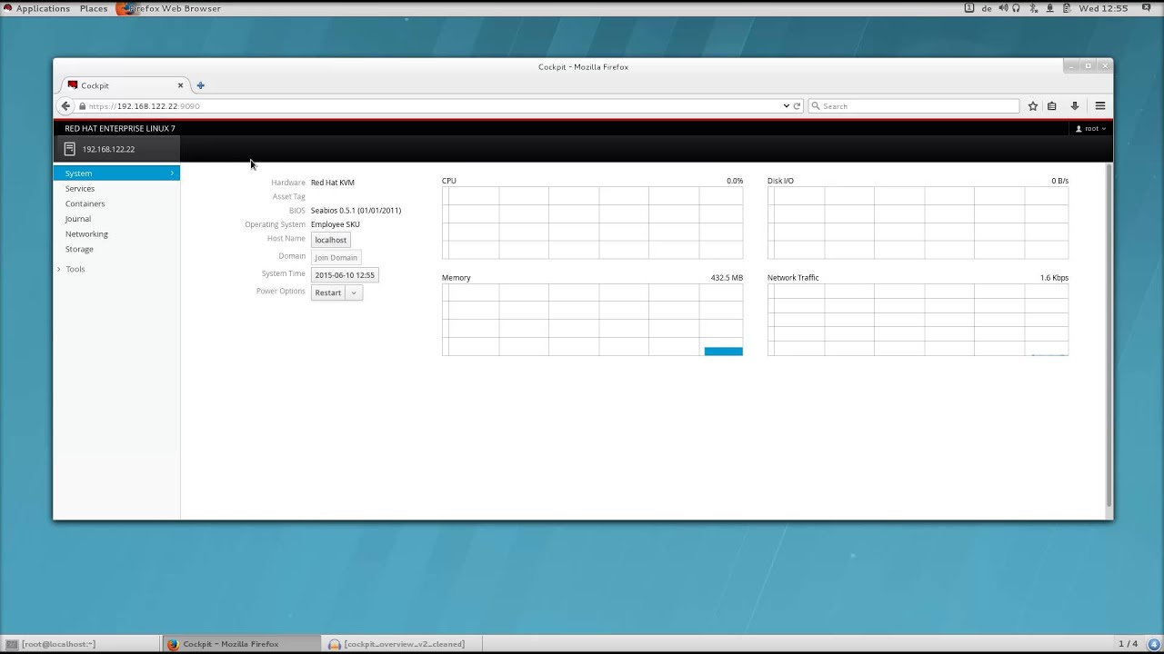 the cockpit administration interface for red hat enterprise linux rh youtube com  Networker Administration Guide