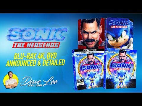Sonic The Hedgehog Blu Ray 4k Dvd Announced Detailed Youtube