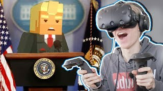 SAVING DONALD TRUMP IN VIRTUAL REALITY! | Just in Time Incorporated VR (HTC Vive Gameplay)
