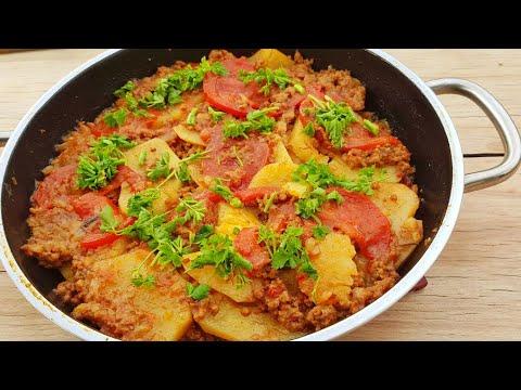 TENCEREDE Patates OTURTMA (Kıymalı)