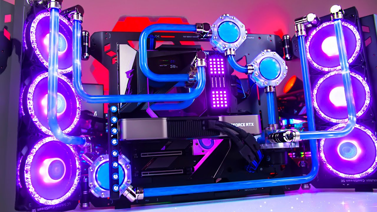 INSANE RTX 3080 ti Custom Water Cooled Gaming PC Build - Benchmarks