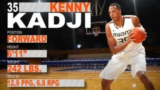 Official Highlights 2013 NBA Draft | Kenny Kadji - Miami | ACCDigitalNetwork