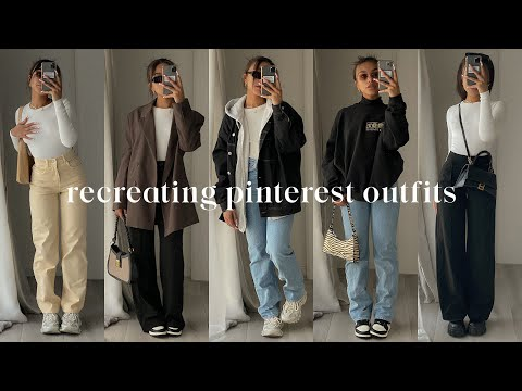 recreating pinterest outfits *bella hadid* - YouTube